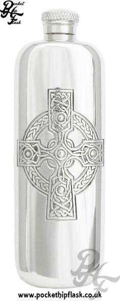 Celtic Slimline Pewter Hip Flask at The Pocket Hip Flask Co: