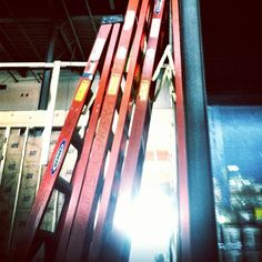 ladders and light