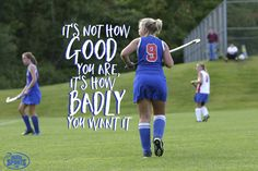 Practice makes perfect - anyone can learn the game of field hockey, but not everyone can have the passion and the spirit!