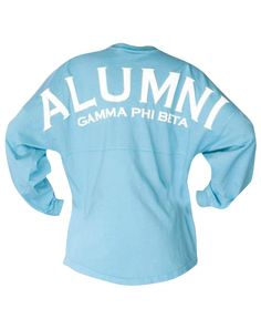 Gamma Phi Beta Alumni Spirit Jersey by Adam Block Design | Custom Greek Apparel & Sorority Clothes | www.adamblockdesign.com