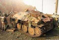 Captured german tank destroyer (by Roy Wells)
