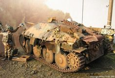 Captured german tank destroyer (by Roy Wells)