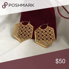 Tory Burch Hoop Earrings These earrings have never been worn before and are a classic accessory that will match all outfit choices! Tory Burch Jewelry Earrings