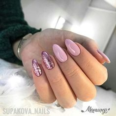 Make an original manicure for Valentine's Day - My Nails Aycrlic Nails, Chic Nails, Prom Nails, Nail Manicure, Love Nails, Pretty Nails, Nail Candy, Sparkle Nails, Elegant Nails