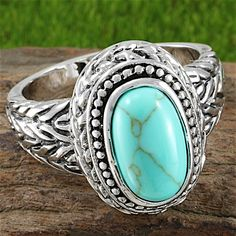 8.75ct Turquoise, Lead Free Hypoallergenic & Tarnish Free Turquoise Ring…