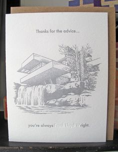 So Wright (Greenwich Letterpress)  Totally made me laugh!