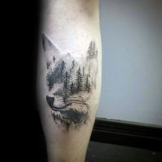 Fox Forest Male Tattoo Inspiration