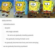 Evolution of Spongebob