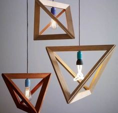 Modern-Geometric-Wooden-Pendant-Light-Design-for-Charming-Interior Forecasting the Hottest Trends in Home Decoration 2017 . Interior Lighting, Home Lighting, Club Lighting, Lighting Ideas, Unique Lighting, Cheap Lighting, String Lighting, Modern Lighting Design, Luxury Lighting