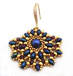 Tutorial Ladies Fan Earrings - Beading pattern with Twin beads  Etsy  Ellad2  $5
