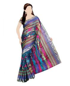 BANARASI FASHION SAREE Multicoloured fashion saree, jacquard woven work throughout, contrast zari borde.