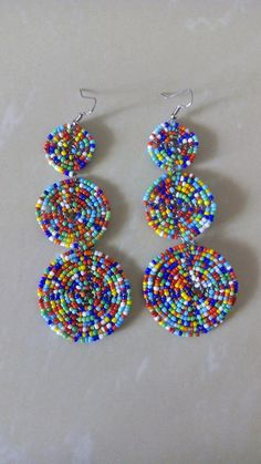 Mothers Day Gift-Unique Earrings and Necklace Set-Handmade Jewelry -Tree Earrings And Necklace-Woman Gift-Anniversary Present-Birthday gifts - Custom Jewelry Ideas Custom Earrings, Unique Earrings, Beaded Earrings, Custom Jewelry, Dainty Earrings, Circle Earrings, Hoop Earrings, African Earrings, African Jewelry