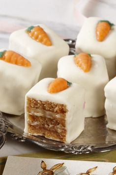 Carrot Cake Petit Fours  www.bissingers.com