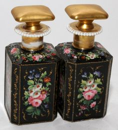 FRENCH PORCELAIN PERFUME BOTTLES, LATE 19TH C.