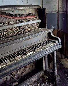 I wonder who used to play this piano? Detroit Ruins by Yves Marchand & Roman Meffre