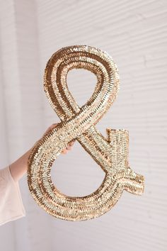 DIY Jumbo Sequin Monogram - make it for a party, keep it forever.