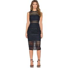 NICHOLAS Braided Lace Fitted Bandeau Dress Dresses (€620) ❤ liked on Polyvore featuring dresses, braid dress, fitted lace dress, lacy dress, woven dress and bandeau dress