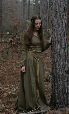 Ethereal Gown: Greensleeves Medieval Elven Forest Maiden Dress by...