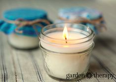 All natural candles from How to Make Soy Beeswax mason jar candles