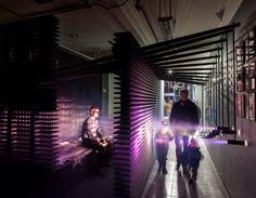 Light Touch | Ruairi Glynn Interactive Architecture, Dynamic Architecture, Vernacular Architecture, Luz Natural, Natural Light, Interactive Display, Interactive Art, Projection Installation, Site Model