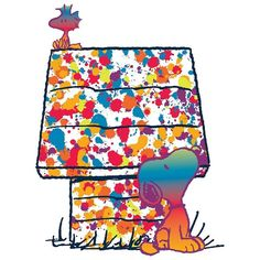 Peanuts Woodstock & Snoopy Rainbow Canvas Wall Art by Marmont Hill ($198) ❤ liked on Polyvore featuring home, home decor, wall art, multicolor, canvas home decor, vertical wall art, colorful canvas wall art, colorful home decor and canvas wall art