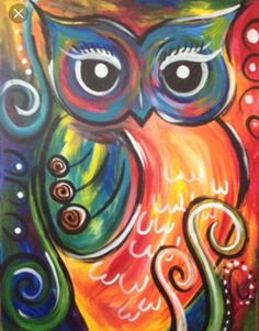 going to paint Festive Owl at Pinot's Palette - Sou.I am going to paint Festive Owl at Pinot's Palette - Sou. Easy Canvas Painting, Easy Paintings, Animal Paintings, Diy Painting, Painting & Drawing, Canvas Paintings, Owl Canvas, Canvas Art, Bd Art