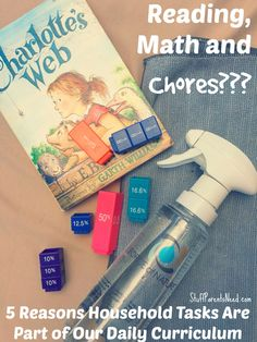 I've got 5 reasons why I think chores should be part of daily life for children. They teach some critical skills and traits! Cleaning Fun, Spring Cleaning Checklist, Curriculum, Homeschool, Parenting Websites, Parental Guidance, Kids Learning, Back To School, Activities For Kids