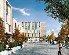 A new hospitality hub for Croydon, comprising a 435 room hotel and 158 room aparthotel with dining, conference & leisure facilities and landscaped public realm space. Thornton Heath, Public Realm, Croydon, London Hotels, Dexter, Hospitality, Contemporary Design, Facade, Fountain
