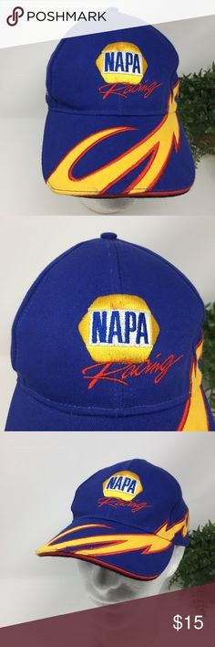 NAPA Racing Ron Capps Blue NASCAR Hat Yellow Flame This listing is for a NAPA Racing Ron Capps Blue NASCAR Hat Yellow Flame OS   We LOVE finding unique and special hats ... of all kinds. Some are new and some have been pre-owned.   We sell NFL, NBA, NHL, and MLB hats. NCAA hats and NASCAR hats. And, we find other great hats like this one ...  Comes from a smoke free and pet free environment. Hat will be shipped in a box to prevent it from from getting crushed. NAPA Accessories Hats