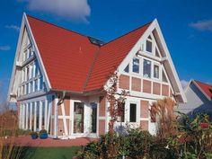 Typische #Dach-Eindeckung: #Braas Doppel-S Dachstein in #Rot.