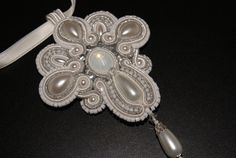 Soutache pendant  Silent Night by BeadsRainbow on Etsy.