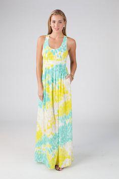 Austin maxi dress in Watercolor print - Annie Griffin Spring '14