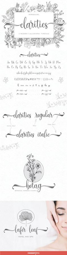 Clarities is a modern calligraphy font, with a sweet and playful vibe. It's the ideal font for turning any crafting idea into a true standout.