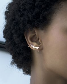 Line and Surface minimalist ear cuff   Knobbly Studio
