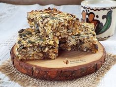 Batoane energizante din seminte - YouTube Baby Food Recipes, Vegan Recipes, Energy Bars, Granola, Gluten, Banana Bread, Deserts, Breakfast, Hummus