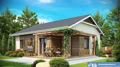 Casa si gradina pe 300 de mp - accente organice ca zona de tranzit spre gradina