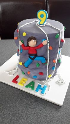 Climbing Wall Cake. Cake by Homemade By Hollie.
