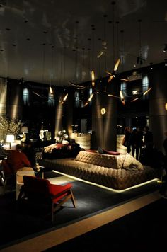 Paramount Hotel New York City designed by Philippe Starck :: 1990. | Philippe Strack, Interior Design, Philippe Stark Projects, Best Designers, Luxury Decor, Decoration. For More News: http://www.bocadolobo.com/en/news-and-events/