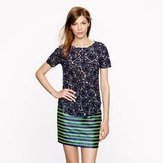 Printed eyelet top - shirts & tops - Women's new arrivals - J.Crew