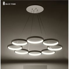 Ceiling Lights & Fans Friendly Minimalist Kitchen Long Led Pendant Light Modern Oval Ring Hanging Lamp For Dining Room Office Study Table Traveling Pendant Lights