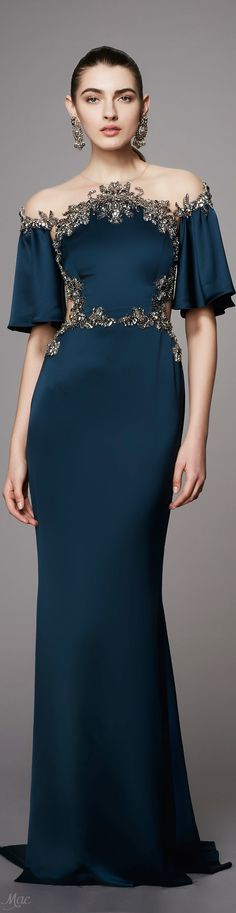 Wouldn't wear the cut-out/backless style but I love the front of this dress! Pre-Fall 2017 Marchesa
