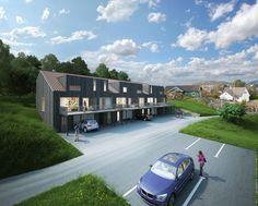Søreide/ 6 prosjekterte rekkehus i utpreget barnevennlige omgivelser. Solrike uteplasser, utsikt og carport. 3 solgte!