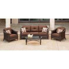 Found it at Wayfair - Gramercy 4 Piece Deep Seating Group with Cushions
