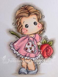 Irene Mendes: Tilda with a Big Big Rose Pele: E0000/E000/E00/E13/E11/R0/R22 Cabelo: E44/E43/E42/E40 Vestido: RV10/RV21/RV13/C4 Sapatos: C00/C01/C03/C04/C05 Flor: R59/R39/R37/R32 * YG93/YG95/YG97/YG99 Contornos: W0/W1/W2/W3