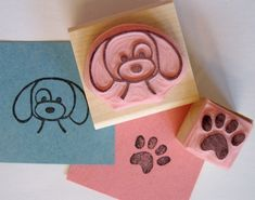 Handmade stamps. Would love handmade stamps from puppies and paws or woodland themed!