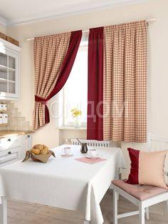 """Комплект штор """"Ротельзе (бордо)"""": купить комплект штор в интернет-магазине ТОМДОМ #томдом #curtains #шторы #interior #дизайнинтерьера"""
