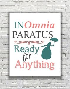 Gilmore Girls Quote Typography Print - In Omnia Paratus