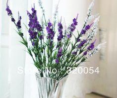 Envío gratis, 5 unids/lote, 9 cabezas de lavanda, lavanda provence, de la sede artificial flores, 5 color, decoración del hogar, venta al por mayor(China (Mainland))