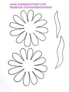 Manualidades flores de fomi ~ cositasconmesh