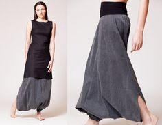 Black Harem Pants, Drop crotch Pants, Women's Fashion, Royal Design